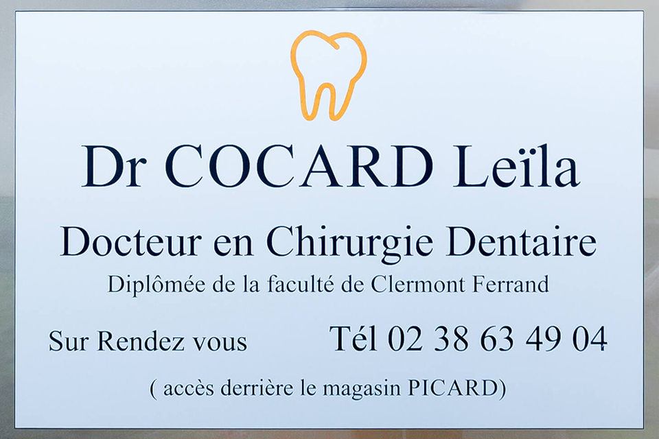 Dentiste Orleans - Dr Cocard - Plaque